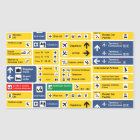 Airport Signs Sticker