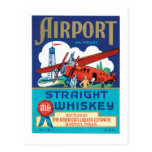 Airport Straight Whiskey Postcards