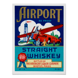 Airport Straight Whiskey Poster