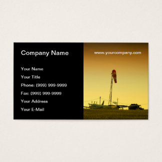 Airport sunset business card