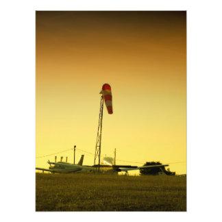 Airport sunset photo print