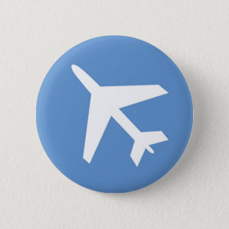 Airport symbol 2 inch round button