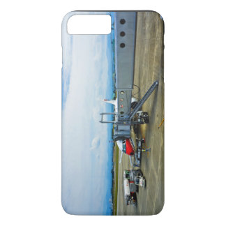 Airport Themed, A Red And White Aeroplane Waiting iPhone 7 Plus Case