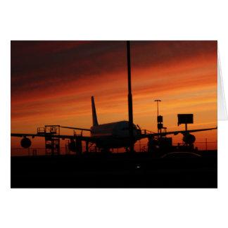 airport under an vaulcanic ash cloud card