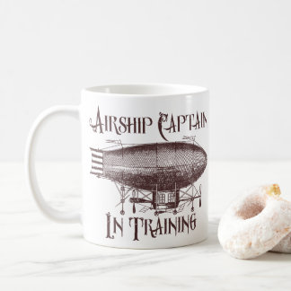 Airship Captain in Training, Steampunk Coffee Mug