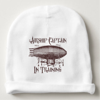 Airship Captain in Training, Steampunk for Kids Baby Beanie