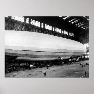 Airship Garage, 1920s Poster