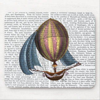 AirShip with Blue Sails Mouse Pad