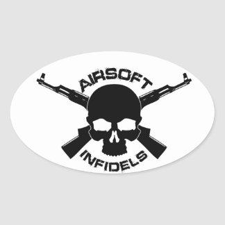 Airsoft Infidels oval sticker