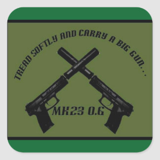 Airsoft MK23 Owners Group stickers square green.
