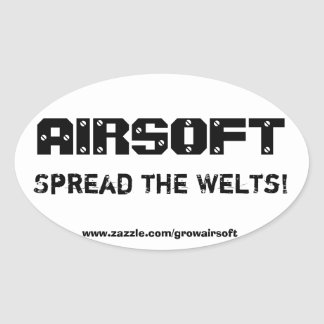 "Airsoft ""Spread the Welts"" Bumper Sticker"