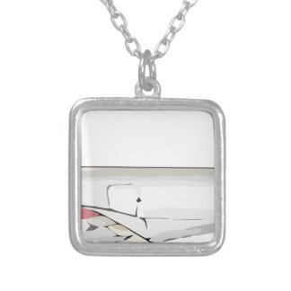 Airspeed_Viceroy_drawing Silver Plated Necklace