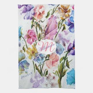 AIRY AND WHIMSICAL FLORAL PATTERN KITCHEN TOWEL