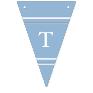 Airy Blue with White Wedding Detail Bunting Flags
