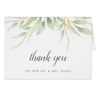Airy Botanical Thank You Card