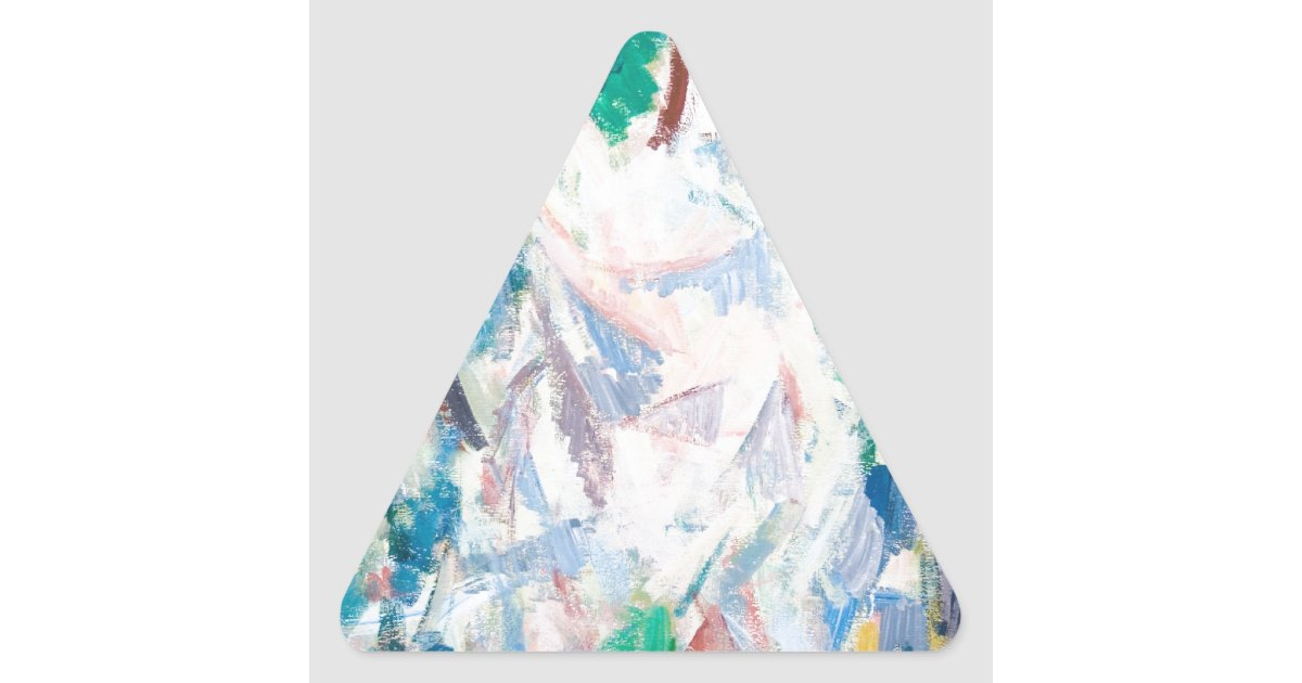Airy Cubism Landscape (abstract cubism) Triangle Sticker