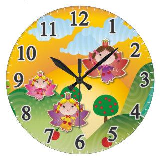 Airy Fairyland Large Round Clock