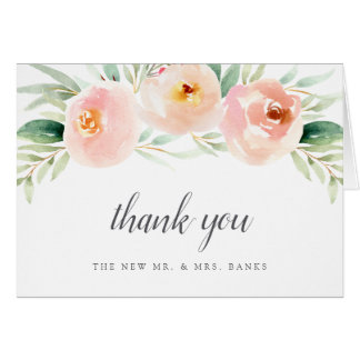 Airy Floral Thank You Card