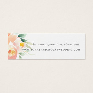 Airy Floral Wedding Website Insert Cards