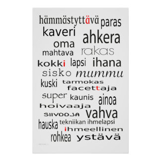 Aiti juliste - Mother in Finnish poster