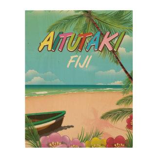 Aitutaki Air travel poster Wood Canvas