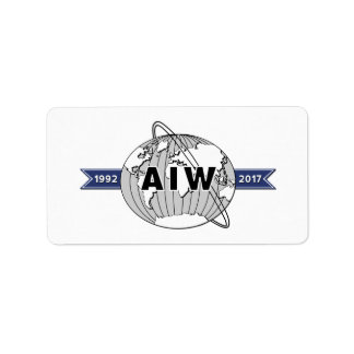 AIW 25th Anniversary Logo-18 Per Sheet Label