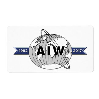 AIW 25th Anniversary Logo-8 Per Sheet