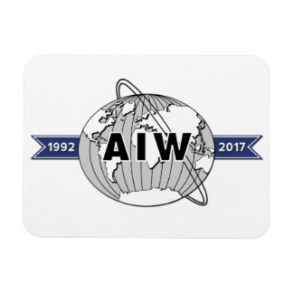 AIW 25th Anniversary, White Background Magnet
