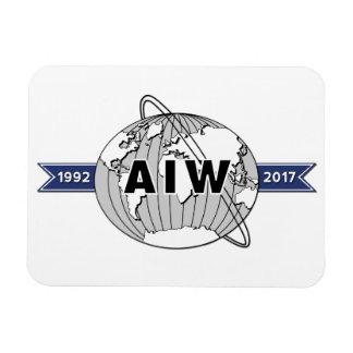 AIW 25th Anniversary, White Background Rectangular Photo Magnet