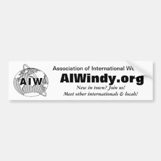 AIW Bumper Sticker with Logo and Website, Join Us