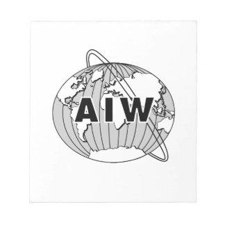 AIW Logo Notepad