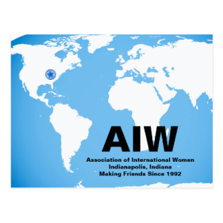 AIW Postcard with Star