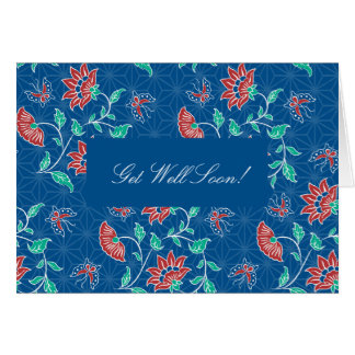 Aiyana Floral Batik Get Well Card