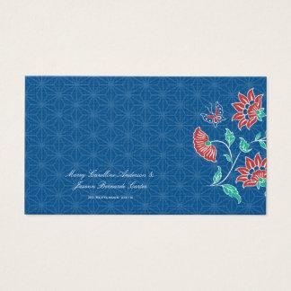 Aiyana Floral Batik Wedding Place Card