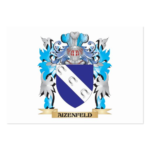 Aizenfeld Coat Of Arms Business Card Template