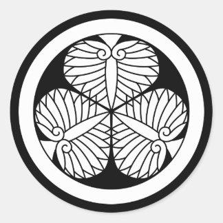 Aizu mallow classic round sticker