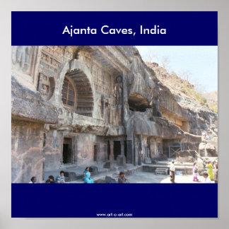 Ajanta Caves, India, Poster