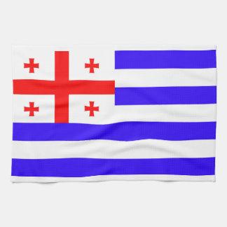 Ajaria Adjaria Adjara republic flag symbol georgia Hand Towels