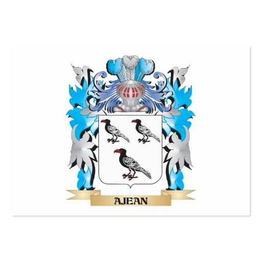 Ajean Coat Of Arms Business Card Templates