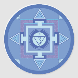 Ajna Chakra Mandala (Third eye chakra) Round Sticker