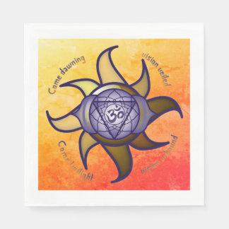 "Ajna Chakra ""Third Eye"" Yoga Insight Paper Napkins"