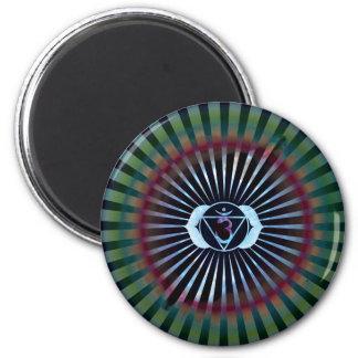 Ajna Enlightenment, Third Eye, Chakra Symbol, Yoga 2 Inch Round Magnet
