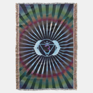 Ajna Enlightenment Third Eye Yoga Meditation Throw Blanket