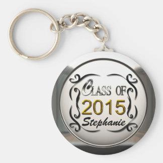 Ajoutez la classe nommée du porte - clé 2015 d'obt porte-clé rond