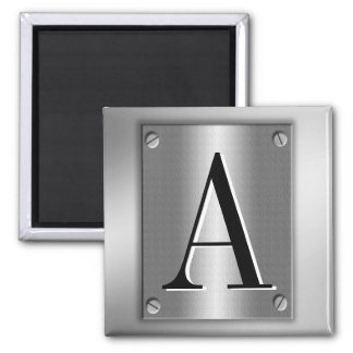 Ajoutez le monogramme sur le regard en métal avec  magnet carré