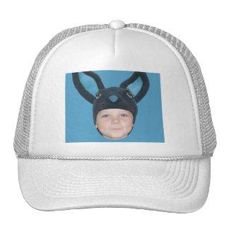 Ajoutez vos oreilles bleues de lapin de photo casquettes de camionneur