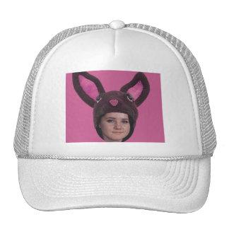 Ajoutez vos oreilles de lapin de rose de photo casquette de camionneur