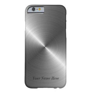 Ajoutez votre cas en acier nommé de l'iPhone 6 de  Coque Barely There iPhone 6