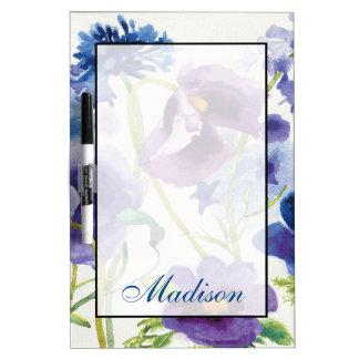 Ajoutez votre jardin mélangé bleu et pourpre nommé tableau effaçable à sec