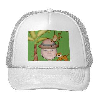 Ajoutez votre photo à un thème sauvage de safari casquettes